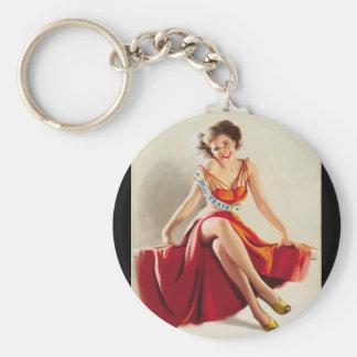 Miss Tease, 1995 Pin Up Art Keychain
