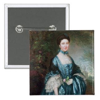 Miss Theodosia Magill 2 Inch Square Button