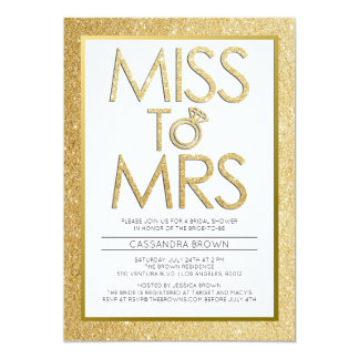 Miss to Mrs - Bridal Shower Invitation