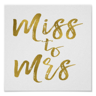 Miss to Mrs Bridal Shower Poster Banner