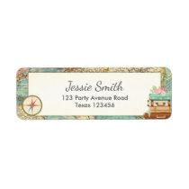 Miss to Mrs Bridal Shower Return Address Labels