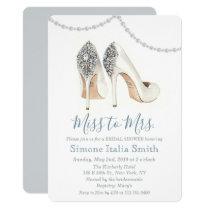 Miss to Mrs. Shoe Bridal Shower Invitation