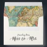 "Miss to Mrs Travel Bridal Shower Envelope World<br><div class=""desc"">♥ Envelope matching all your party items! Miss to Mrs Travel Bridal Shower Party Theme.</div>"