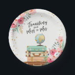 "Miss to Mrs Travel Bridal Shower Paper Plates<br><div class=""desc"">♥ A perfect addition to your party! Miss to Mrs Travel Bridal Shower Party Theme.</div>"