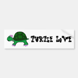 Miss Turtle Car Bumper Sticker