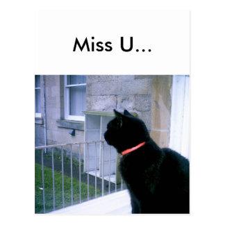 Miss u... postcard