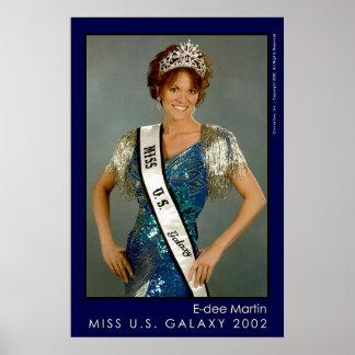 Miss U.S. Galaxy - E-dee Martin Poster