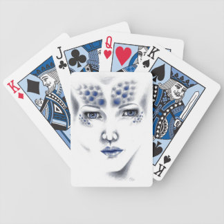 Miss Universe Alien Lady Orig Art Playing Cards