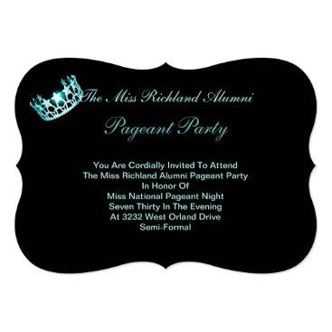 USA Themed Miss USA America Aqua Crown Invitation IV