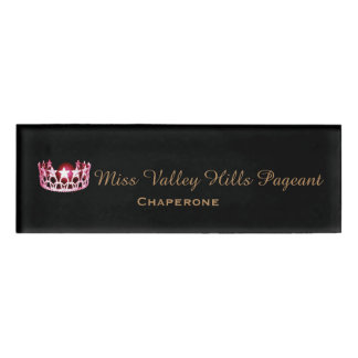 Miss USA America Style Custom Name Tag