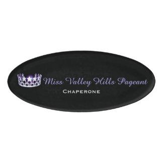 Miss USA America Style Oval Custom Name Tag
