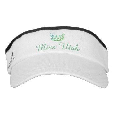 USA Themed Miss USA Aqua Green Crown Visor  Hat