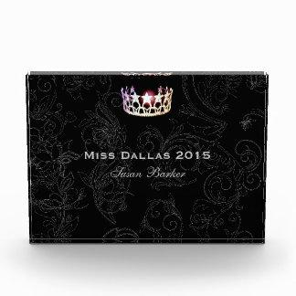 Miss USA Flourish Silver Crown Acrylic Award