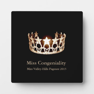 Miss USA Gold Crown Awards Plaque