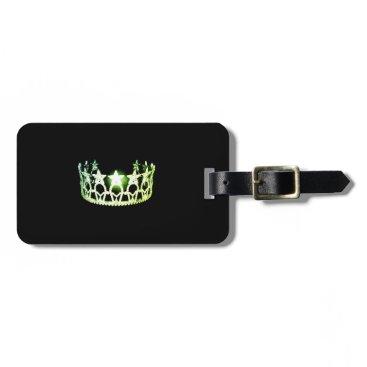 USA Themed Miss USA Lime Green Crown Luggage Tag