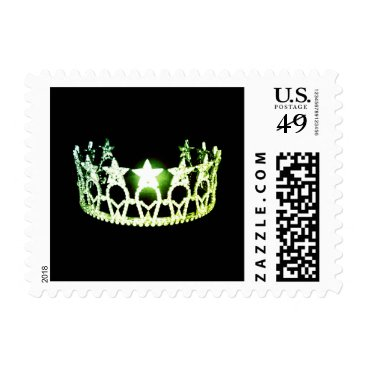 USA Themed Miss USA Lime Green Crown Postage Stamps