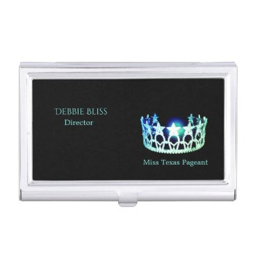 USA Themed Miss USA Mint Crown Business Card Holder