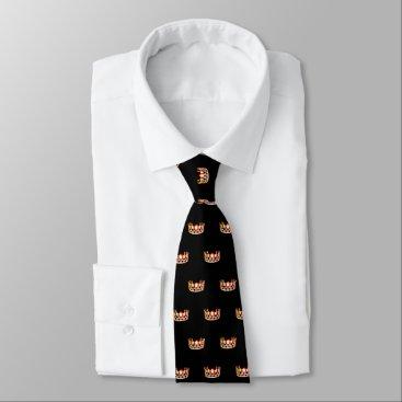 USA Themed Miss USA Orange Crown Men's Tie