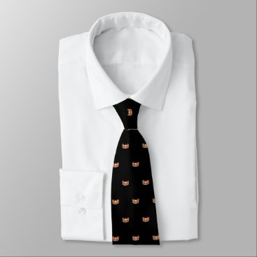 USA Themed Miss USA Orange Star Crown Men's Tie
