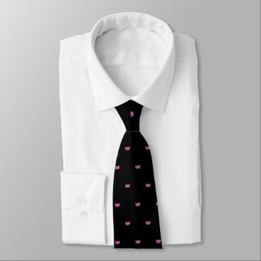 USA Themed Miss USA Pink Star Crown Men's Tie