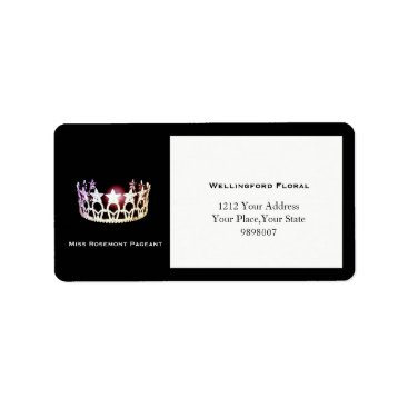 USA Themed Miss USA Silver Crown Address Labels