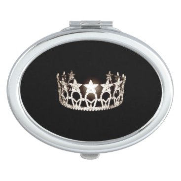 Hawaiian Themed Miss USA Silver Crown Compact Mirror