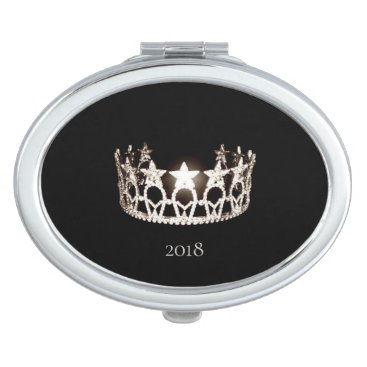 Hawaiian Themed Miss USA Silver Crown Compact Mirror-Date Compact Mirror