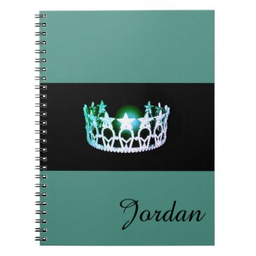 USA Themed Miss USA Silver Crown Notebook Custom Name