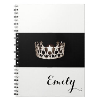 Miss USA Silver Crown Notebook- Custom Name Spiral Notebook