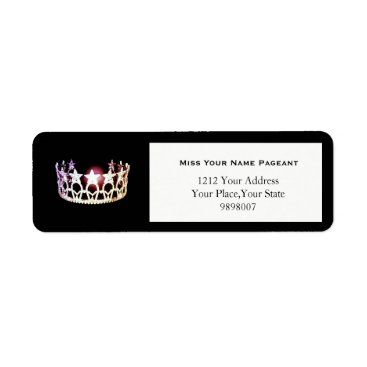 USA Themed Miss USA Silver Crown Return Address Labels