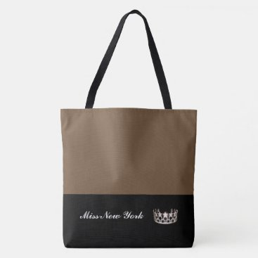 USA Themed Miss USA Silver Crown Tote Bag-Large Brownie