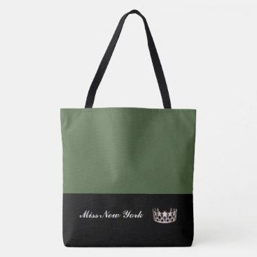 USA Themed Miss USA Silver Crown Tote Bag-Large Cactus