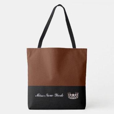 USA Themed Miss USA Silver Crown Tote Bag-Large Cinnamon