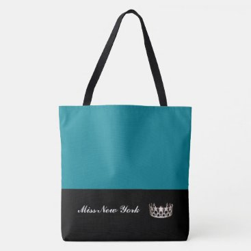 USA Themed Miss USA Silver Crown Tote Bag-Large Pacific