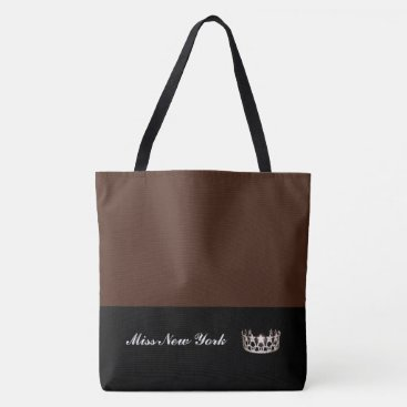 USA Themed Miss USA Silver Crown Tote Bag-LRGE BT Sienna
