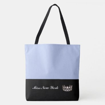 USA Themed Miss USA Silver Crown Tote Bag-LRGE Frost
