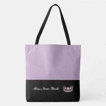 USA Themed Miss USA Silver Crown Tote Bag-LRGE Lilac