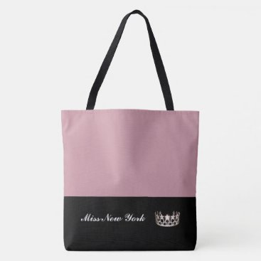 USA Themed Miss USA Silver Crown Tote Bag-LRGE Mauve