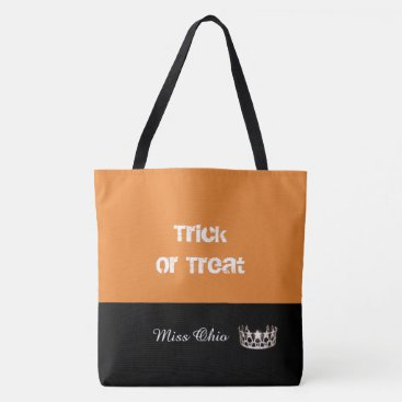USA Themed Miss USA Silver Crown Trick or Treat Tote Bag