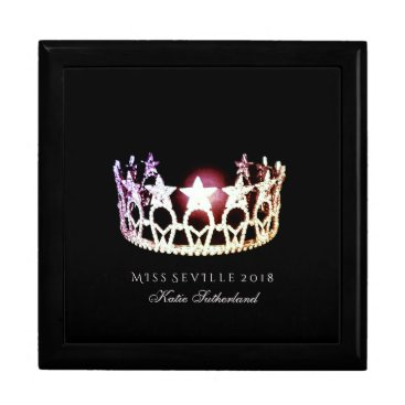 USA Themed Miss USA SLVR Crown Personal Name Jewerly Box