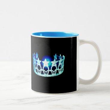 USA Themed Miss USA style Aqua Turquoise Crown  Mug