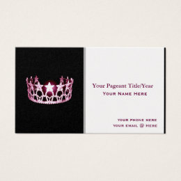 Usa business cards templates zazzle miss usa style crown custom business cards colourmoves