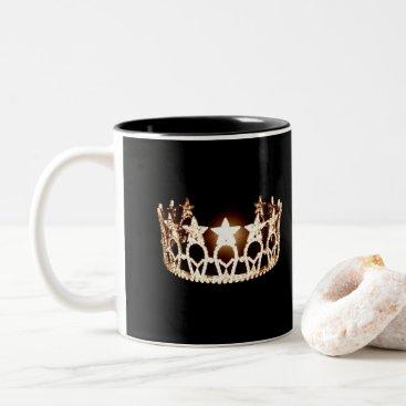 USA Themed Miss USA style Gold Crown Mug