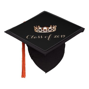 USA Themed Miss USA style Graduation Cap Topper Gold Crown
