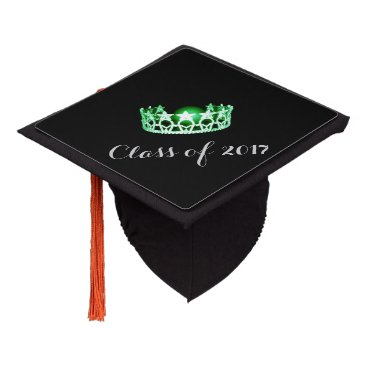 Hawaiian Themed Miss USA style Graduation Cap Topper Green Crown