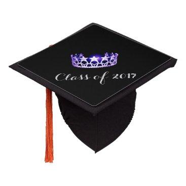 USA Themed Miss USA style Graduation Cap Topper Purple Crown