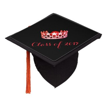 USA Themed Miss USA style Graduation Cap Topper Red Crown