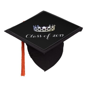 USA Themed Miss USA style Graduation Cap Topper Silver Crown
