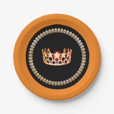"""USA Themed Miss USA style Red 7"""" Paper Plates"""