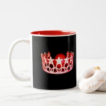 USA Themed Miss USA style Red Crown Mug